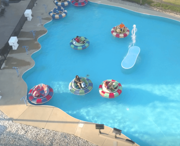 Funtrackers Bumper Boats – Aerial