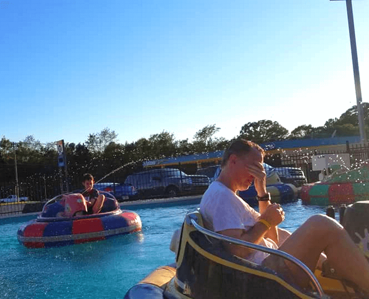 Funtrackers Bumper Boats – A Little Wet