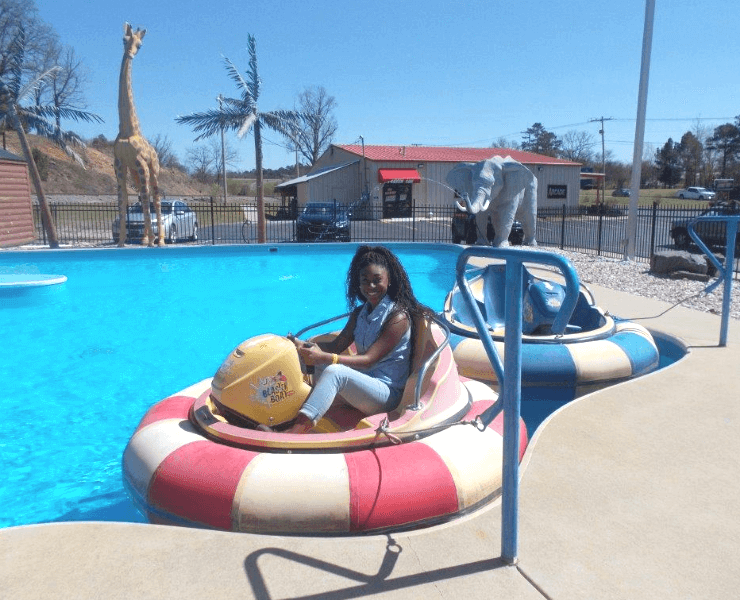 Funtrackers Bumper Boats – Girl Smiling