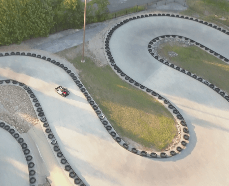 Funtrackers Go Karts – Aerial