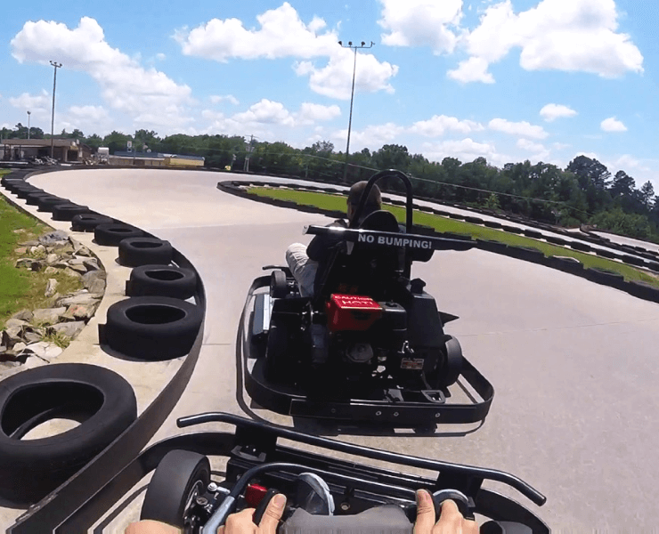 Funtrackers Go Karts – Two Karts First Person